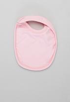 Superbalist Kids - Baby girls 2 pack printed bibs - white & pink