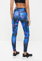 Reebok - Wor myt new aop tights - blue & black