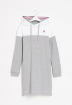 POLO - Girls alexis hooded sweater dress - grey