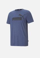 PUMA - Ess heather tee - elektro blue