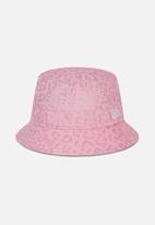 New Era - Metallic print bucket - pink