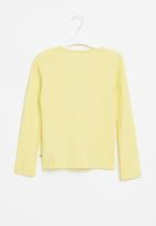 Roxy - Another chance foil long sleeve tee - pale yellow