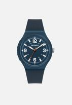 Superdry. - Soft touch watch - navy