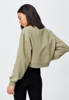 Cotton On - Classic cropped crew - soft moss