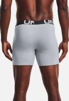 Under Armour - Ua charged cotton 6in 3 pack - grey & black