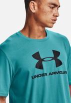 Under Armour - Ua sportstyle logo short sleeve tee - blue