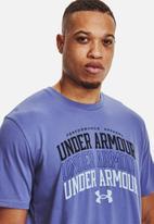 Under Armour - UA multi color collegiate short sleeve tee - purple