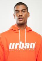 urban° - Mens urban  sweater pullover hoodie - orange