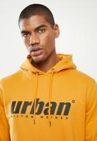 urban° - Mens urban  sweater pullover hoodie- gold