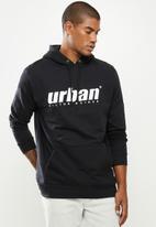 urban° - Mens urban  sweater pullover hoodie - black