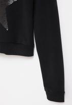 Gloss - Girls rock sweatshirt  - black