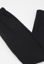 Bee Loop - Girls printed sweat top & sweatpants set - white & black