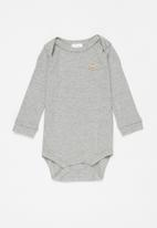 UP Baby - Baby boys long sleeve babygrow - grey