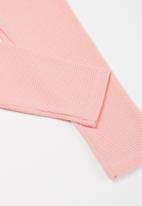 UP Baby - Girls ribbed leggings - pink