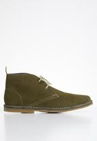 Grasshoppers - Lewis buck suede - olive