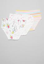 POP CANDY - Girls balloon & stripe 3 pack underwear - multi