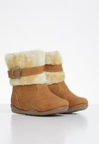 POP CANDY - Boots with buckle - tan