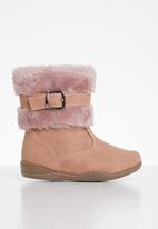 POP CANDY - Boots with buckle - dusty pink