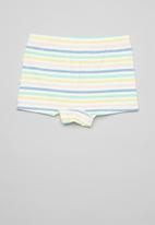 POP CANDY - Girls stripe & unicorn 3 pack briefs - mint