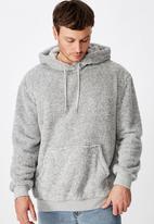 Cotton On - Drop shoulder teddy fleece hood - grey