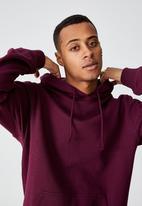 Cotton On - Essential fleece pullover - burgundy