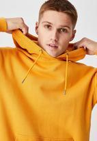 Cotton On - Panelled fleece hoodie - yellow