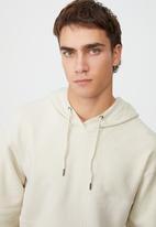 Cotton On - Panelled fleece hoodie - ecru