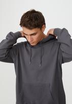 Cotton On - Panelled fleece hoodie - faded slate