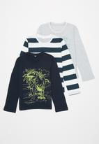 POP CANDY - Boys 3 pack long sleeve graphic tee - multi
