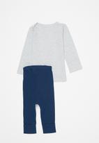POP CANDY - Top & legging set - grey/navy