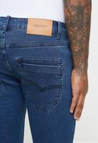 Jonathan D - 5 pocket slim fit denim jeans - blue