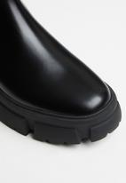 Steve Madden - Tusk leather combat chelsea - black