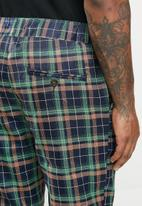 Jonathan D - Regular fit check trousers - navy & green