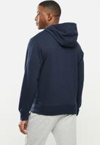 New Balance  - New Balance essentials embroidered hoodie - navy