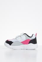 POP CANDY - Strap-on trainers - white & fuschia