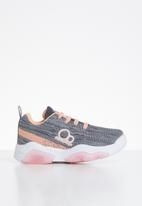 POP CANDY - Lace-up baby girls trainers - grey & pink
