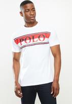 POLO - Peter crew neck logo short sleeve tee - white
