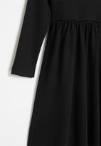 Superbalist Kids - Younger girls cut n sew turtle neck dress - black
