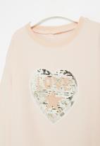 POP CANDY - Girls heart crewneck - light pink