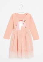 POP CANDY - Girls unicorn mesh dress - pink