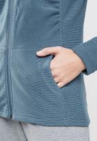 The North Face - W  mezzaluna full zip hoodie -  blue