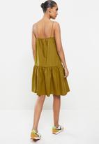 MANGO - Dress pillu - dark yellow