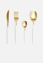Jenna Clifford - Satin 16 piece cutlery set-gold