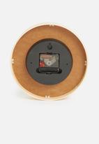 Sixth Floor - Beech wood wall clock - grey