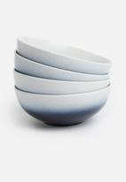 Galateo - Ombre cereal bowl set of 4- cobalt blue