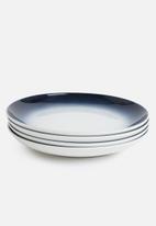 Galateo - Ombre dinner plate set of 4- cobalt blue