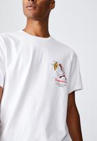Cotton On - Tbar collab pop culture t-shirt - white/tapatio