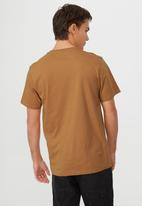 Cotton On - Tbar text t-shirt - bronze