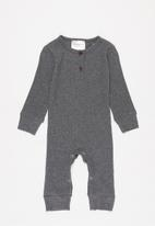 POP CANDY - Henley romper - charcoal