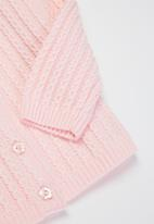 POP CANDY - Baby girls knitted cardigan - pink